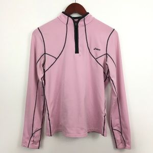 4/$25 ASICS Pink/Gray Pullover Exercise Jacket